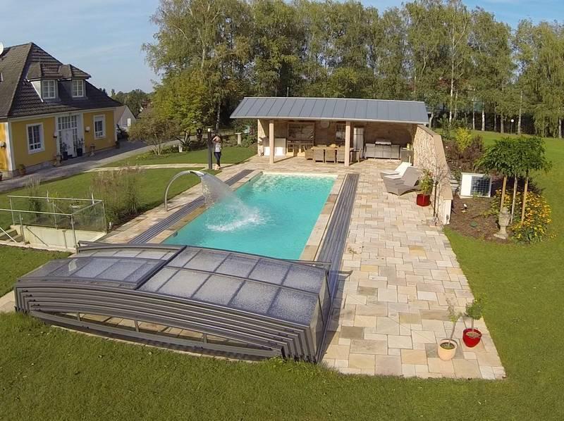 Fotogalerie flache und ultraflache Poolüberdachungen: BINDER Pools ...