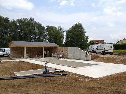 Pool Rohbau inkl. Abgang zum Pool - Technikbereich