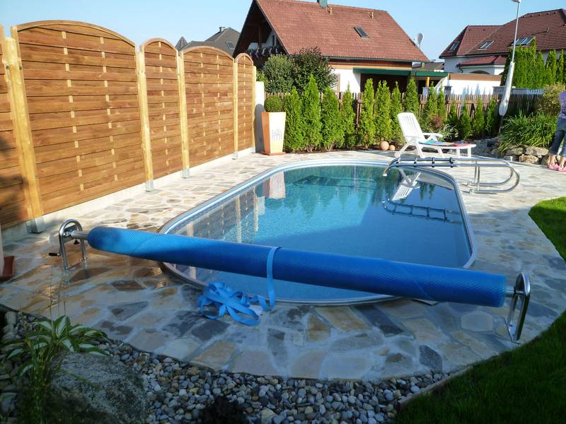 Fotogalerie poolabdeckungen outdoor binder pools for Ovaler pool zum aufstellen