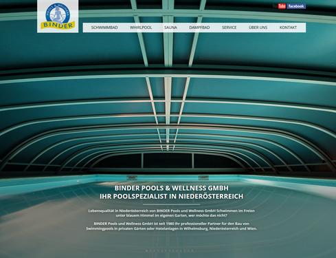 Startseite der neuen Website www.binder.co.at